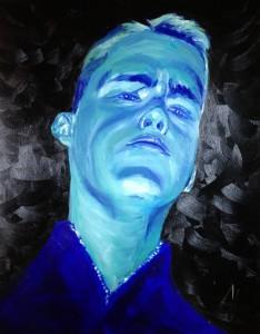 eerste zelfportret ooit, licht gebogen