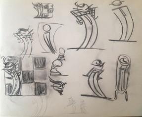 schets bij trouwerij