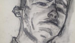 voorschets zelfportret blauw
