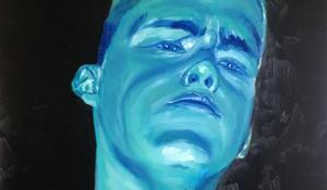 zelfportret blauw