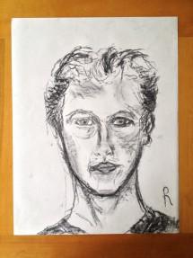 zelfportret met rechts #1a