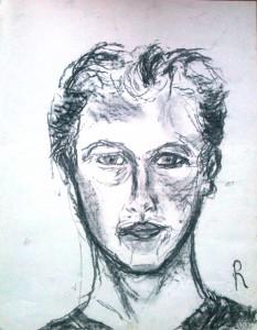 zelfportret met rechts #1