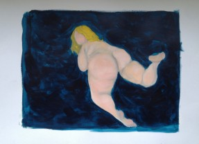 vol naakt - Pruisisch blauw