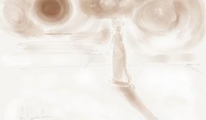 De wachtende weduwe – doodle