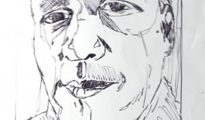 Zelfportret – raamtekening | potlood