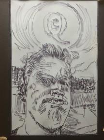 zelfportret onderlip